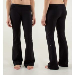 RARE Lululemon Groove Pant Black Lace Mesh Size 2